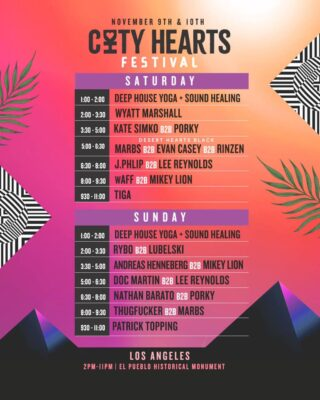 City Hearts Set Times
