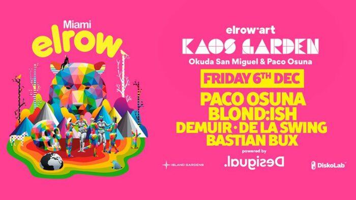 3 Artists Invited to Elrow Miami, the Kaos Garden