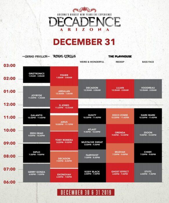 Decadence Arizona 2019