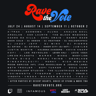 Rave The Vote Lineup 2020